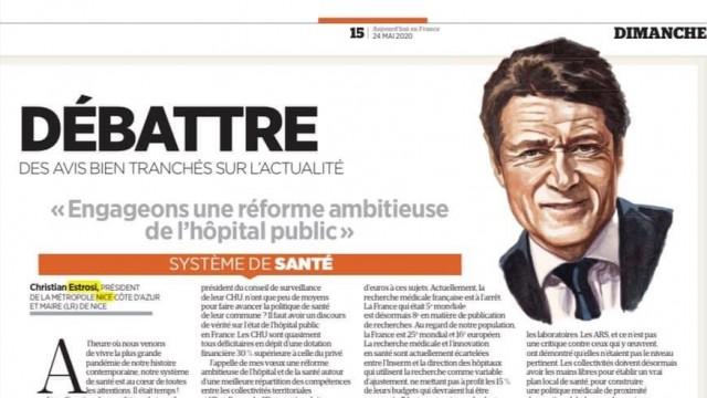 Ségur de la Santé - Christian Estrosi:  «Engageons une réforme ambitieuse de l'hôpital public»