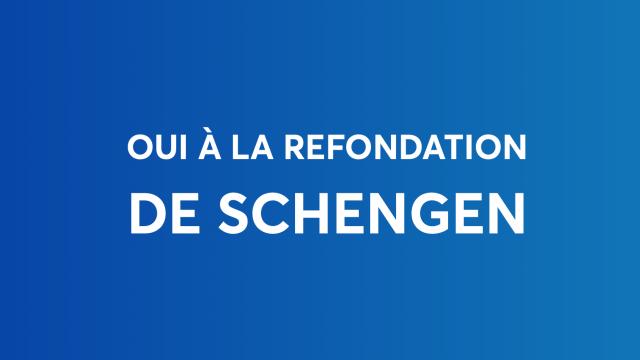 Oui au doublement des effectifs aux frontières. Oui à la refondation de Schengen.
