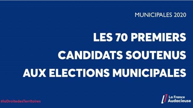 Municipales: les 70 premiers candidats soutenus par La France Audacieuse