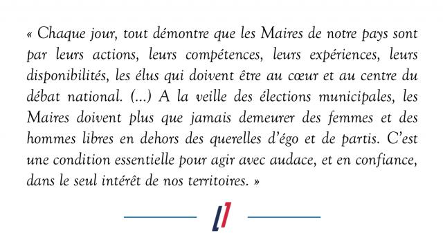 Lettre de Christian Estrosi, délégué général, aux maires de France