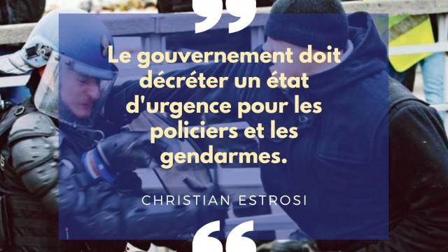 Forces de l'ordre: il faut un état d'urgence pour les policiers et les gendarmes